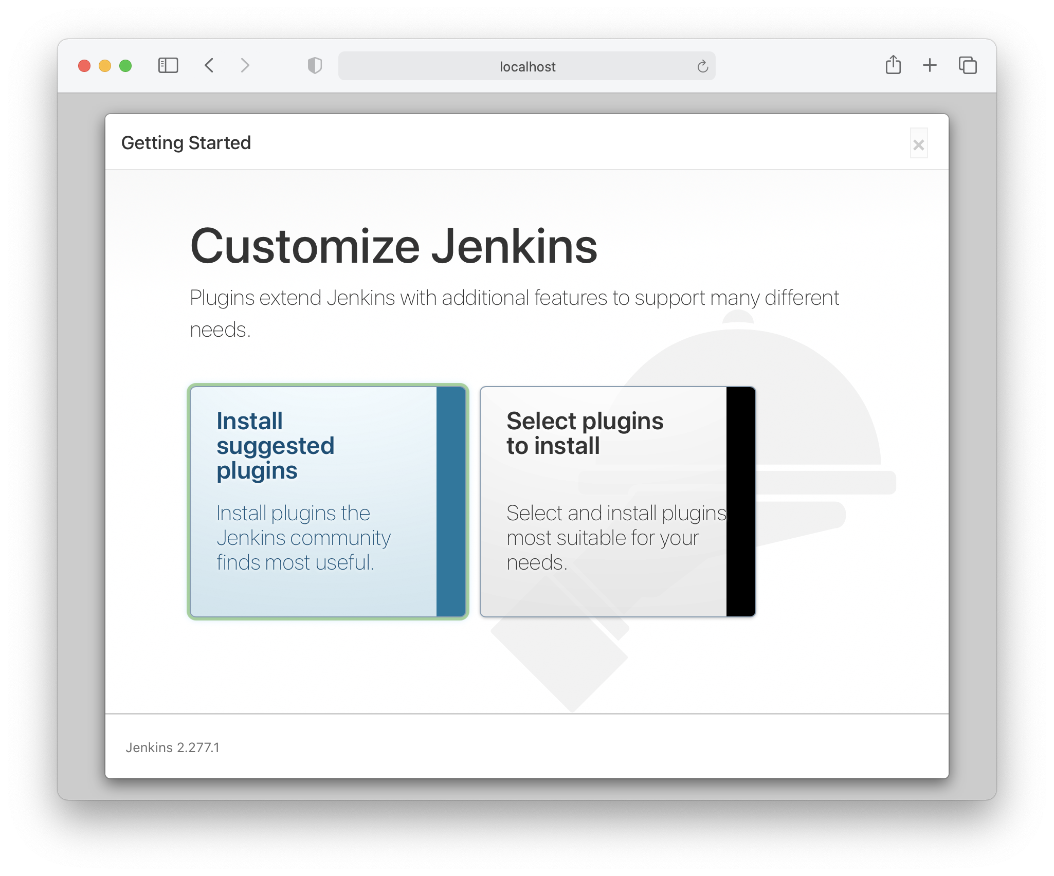 Installation of Jenkins plugins